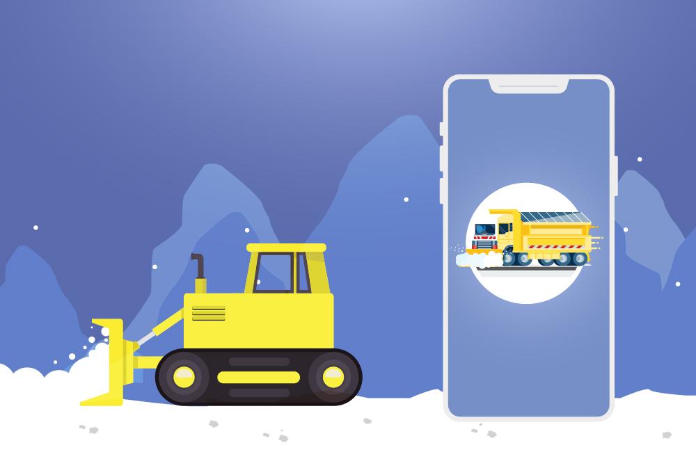 snow plowing app