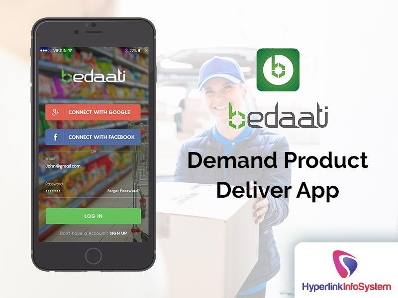 bedaati demand product deliver app