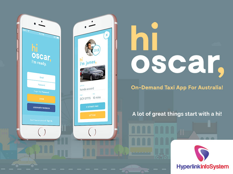 hioscar on demand taxi app for australia