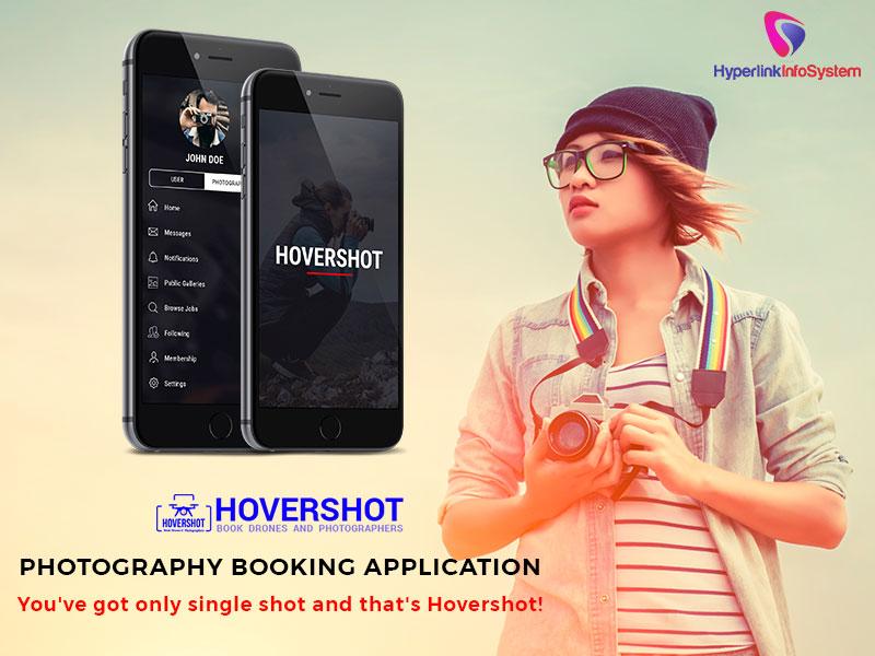 hovershot photography booking application