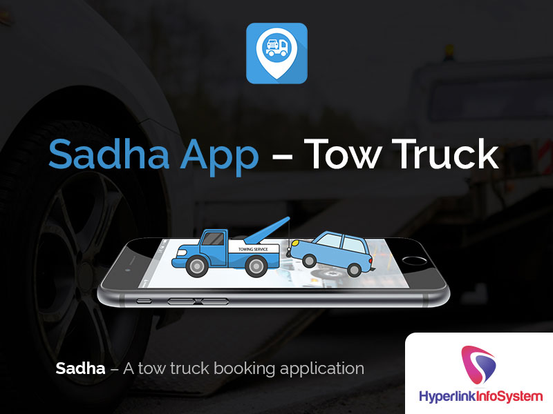 sadha app tow truck  booking application