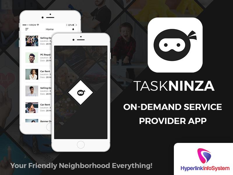 taskninza on demand service provider app