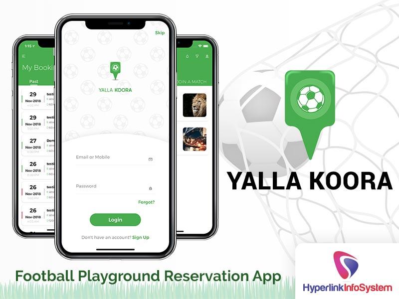 yalla koora football palyground reservation app