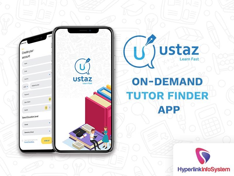 utsaz on demand tutor finder app